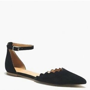 J. Crew Factory Scalloped D'Orsay Flats